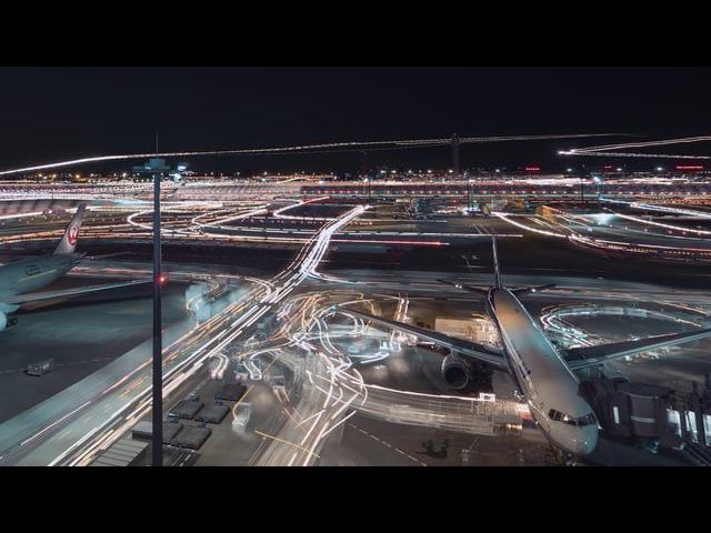Haneda Airport Tilt Shift and Time Lapse