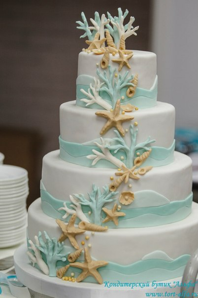 Как сделать кораллы из мастики для украшения торта
