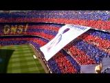 Барселона - Депортиво, чемпионский матч Ла Лиги, перформанс фанатов сине-гранатовых