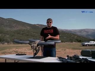 Дрон с пулеметом