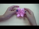 ЦВЕТЫ из атласных лент. Канзаши _ Ribbon Flower Tutorial _ ✿ NataliDoma