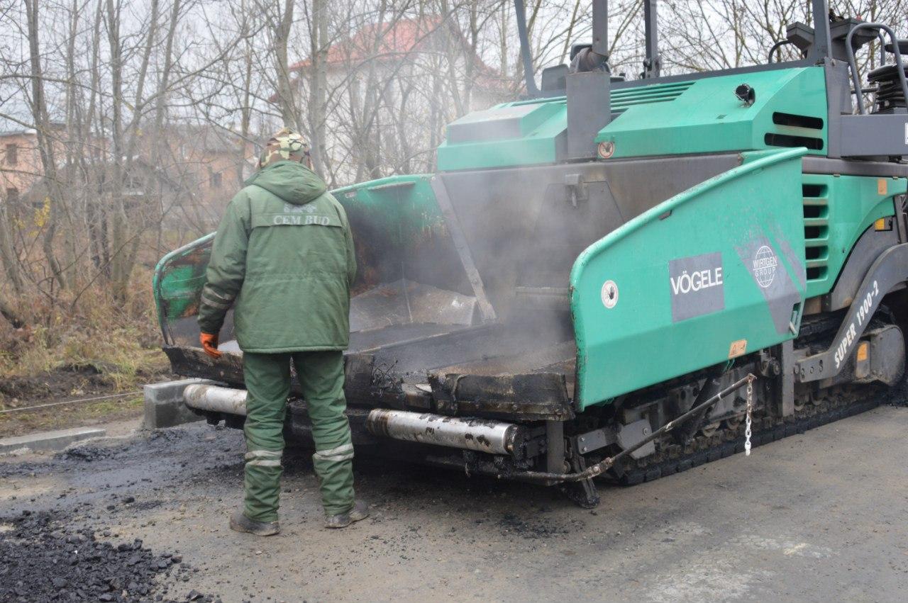 Завершальний етап ремонту вулиці