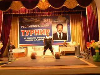 Rusland Albegov 260 kg Clean and Jerk 2015