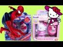 2 Подарка с Сюрприз Яйцами  И Игрушками Человек Паук Хеллоу Китти Для Девочек И Мальчиков
