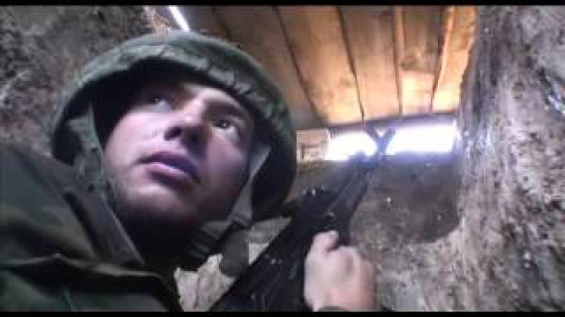 Интервью ополченца Черепа журналисту Леониду Канферу под артиллерийским обстр ...