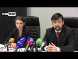 Брифинг омбудсмена по правам человека Дарьи Морозовой и зампреда ДНР Дениса Пушилина