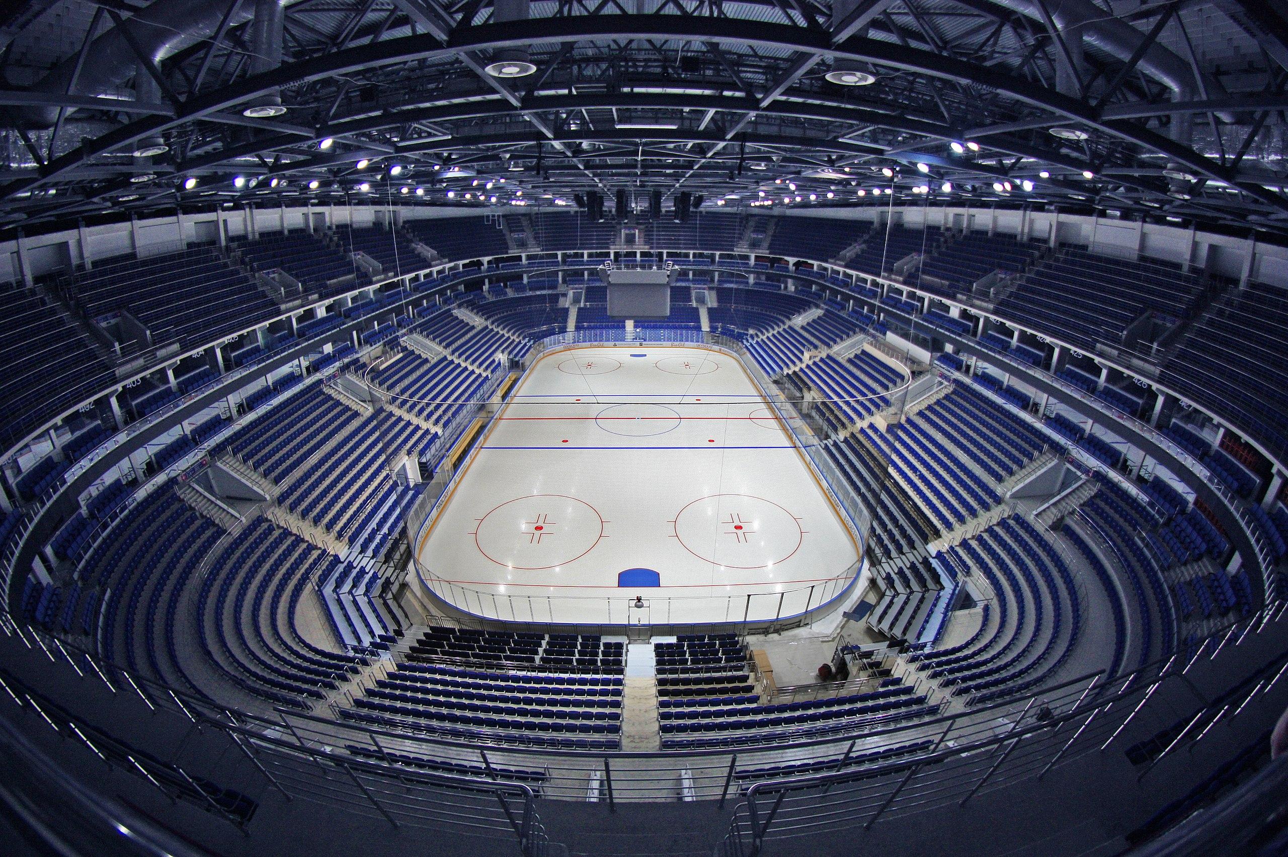 хоккейная арена схема