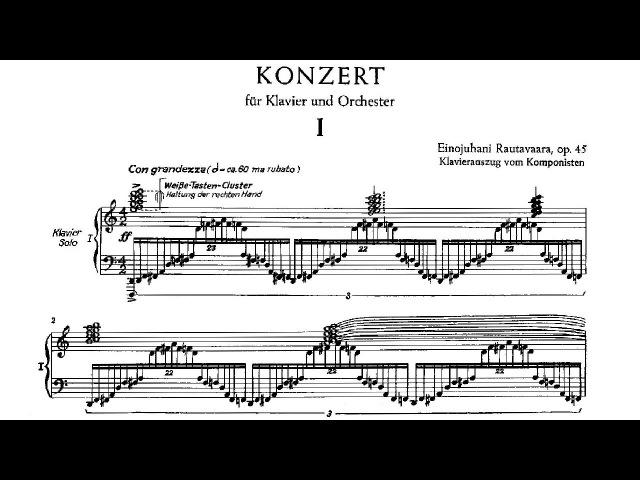 Einojuhani Rautavaara - Piano Concerto No. 1 (1969)