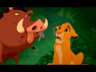 Отрывок из мульта Король-Лев ( старый перевод)песня Тимона Пумбы и Симбы