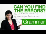 6. Basic English Grammar - Can you find the errors