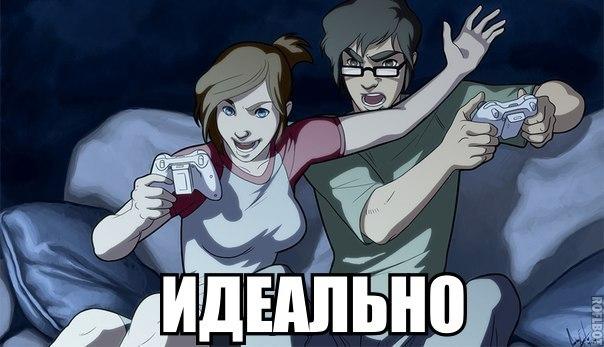 Девушка и парень геймери фото