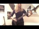Девушка круто играет на гитаре!! Металика )) Супер