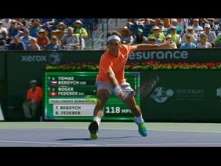 Indian Wells 2015. Federer vs Berdych. Hot Shot