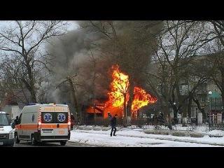 В центре Измаила Одесской области взорвался бар. 11.01.15.