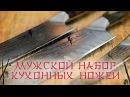 Мужской набор кухонных ножей Поварская тройка Tojiro
