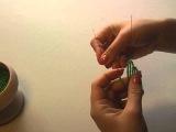 Создание розы из бисера. Урок4: изготовление листочков