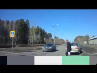 Шумахер на переходе возле Кландайка. Снежинск.