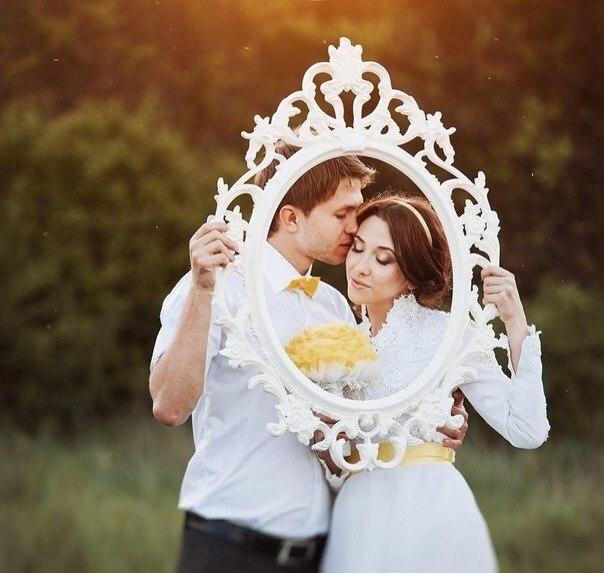 Фоторамки на свадьбу фото