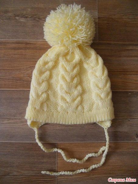 Вязание зимней шапки на спицах для женщины схемы