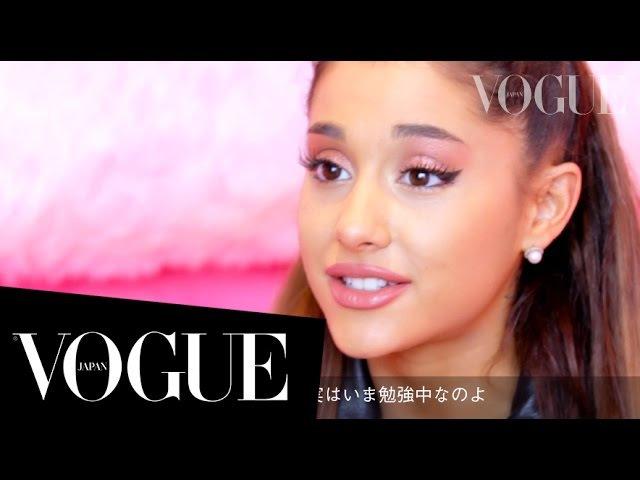 アリアナ・グランデ in TOKYO。VOGUE JAPANユーザーにスペシャルメッセージ!