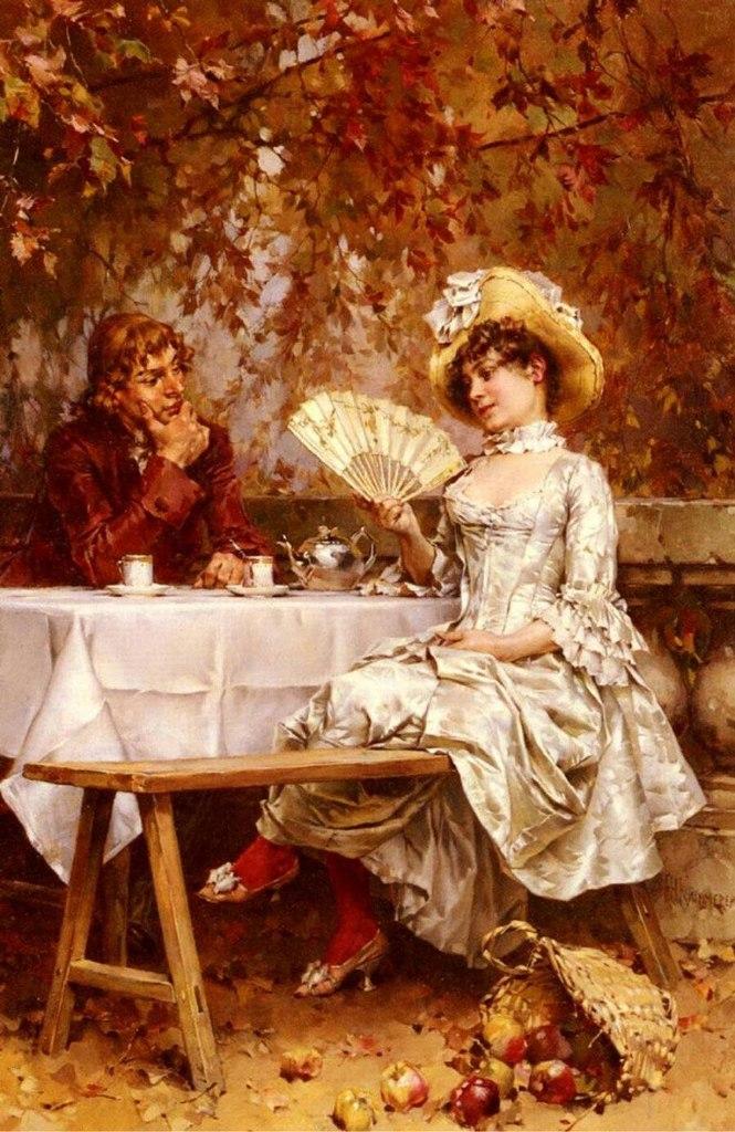 Галантный век от Frederick Hendrik Kaemmerer (Dutch, 1839-1902), галантный век