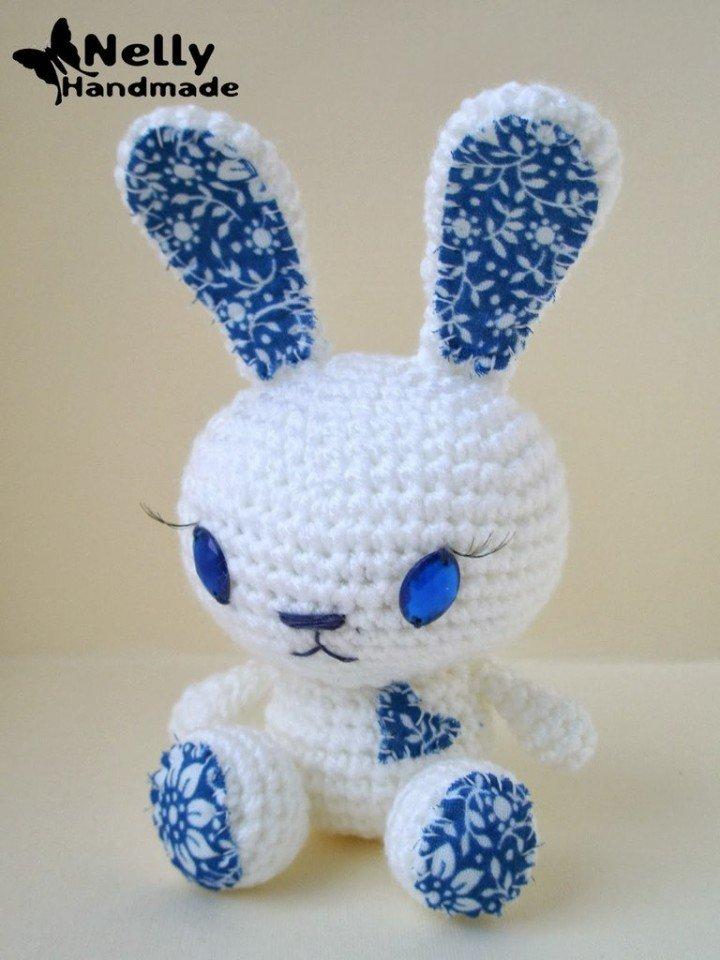 Вязаный кролик.Схема с