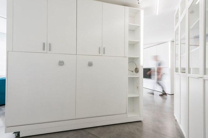 Передвижной шкаф-перегородка - быстрое изменение интерьера