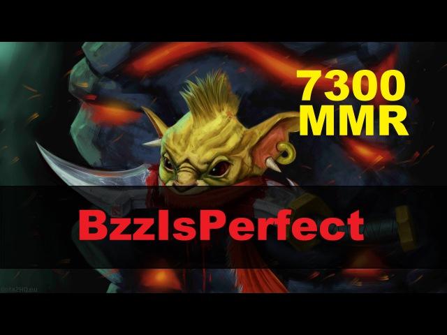 BzzIsPerfect (7300 MMR) играет на Bounty Hunter