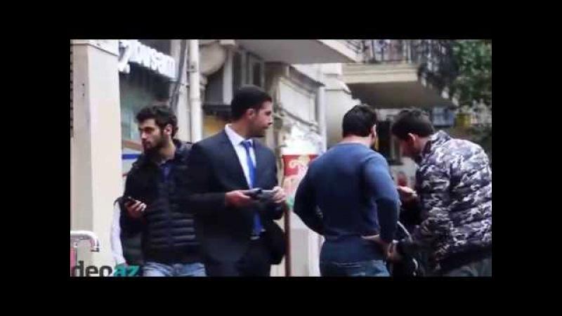 Bakıda döyülən qıza əhalinin reaksiyası - Избиение девушки в Баку