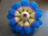 How to make 3d origami flower model 3 part2