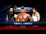WWE 2K16 Triple Threat John Cena Vs Seth Rollins and Dean Ambrose