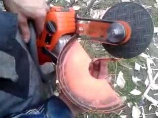 Из бензопилы болгарка своими руками