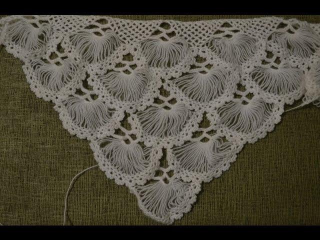 Турецкая шаль, связанная на карточке. Часть 15 (Turkish shawl, tied on the card. Part 1)