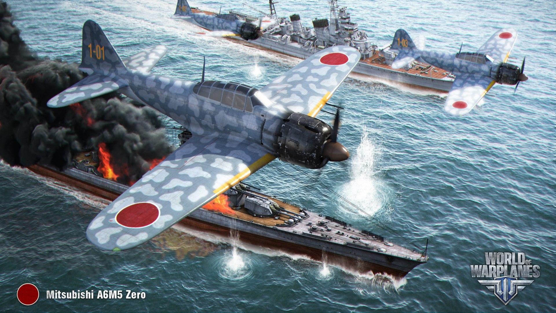 рисунок Mitsubishi A6M Zero