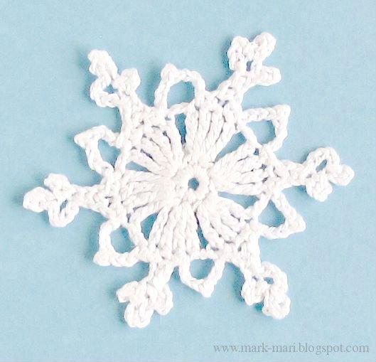 Снежинки крючком: схемы вязания