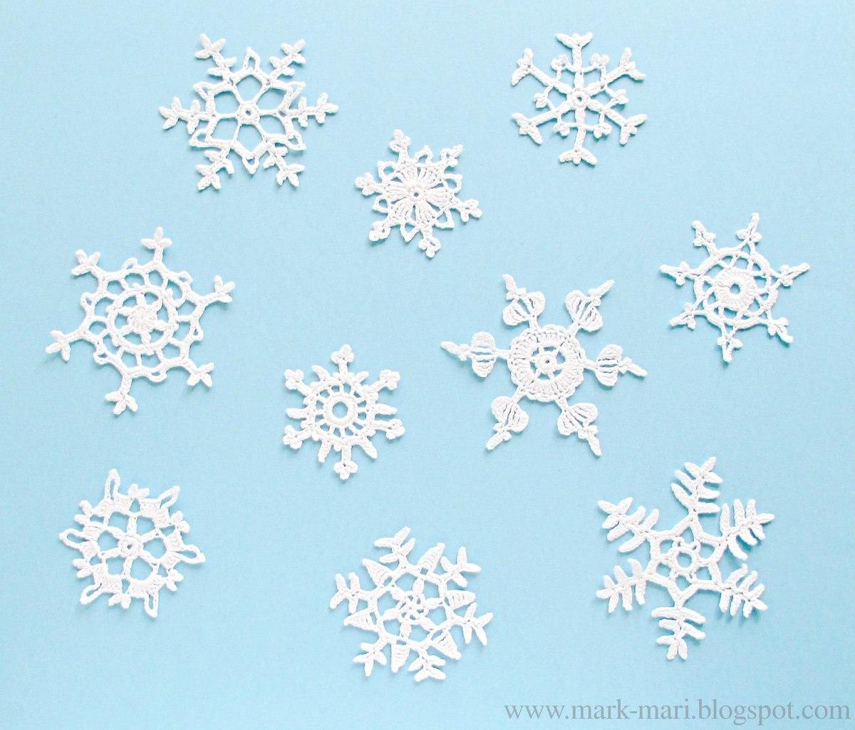 платье крючком снежинка схема