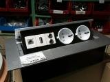 Принцип работы врезного удлинителя с розетками на ~220V, компьютерной розеткой RJ-45 и USB
