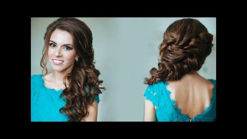 Как сделать локоны на свадьбу видео
