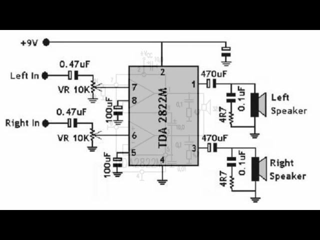 Микросхема TDA2822M