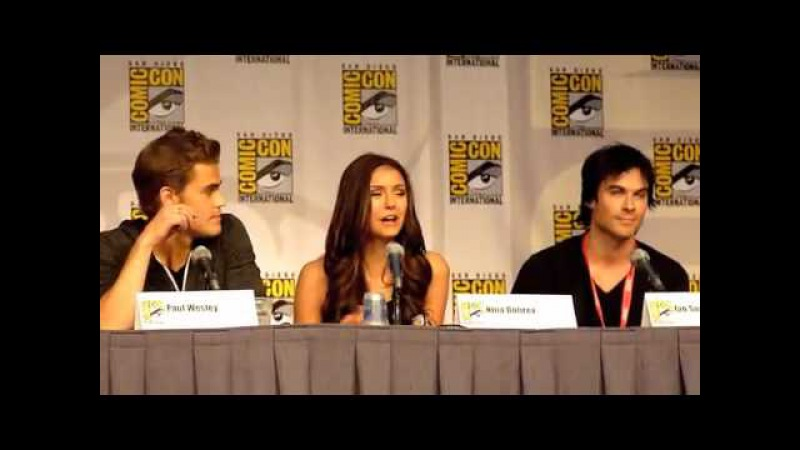Comic-Con 2010 - the Vampire Diaries - Nina disccuses kissing Paul Ian