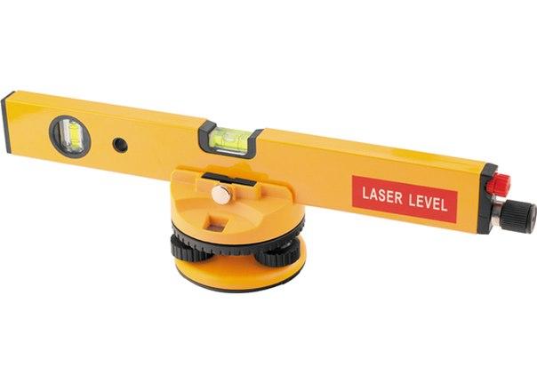 Уровень лазерный, 400 мм, 850 мм штатив, 3 глазка, (база, 2 линзы, очки) в пласт. боксе   MATRIX