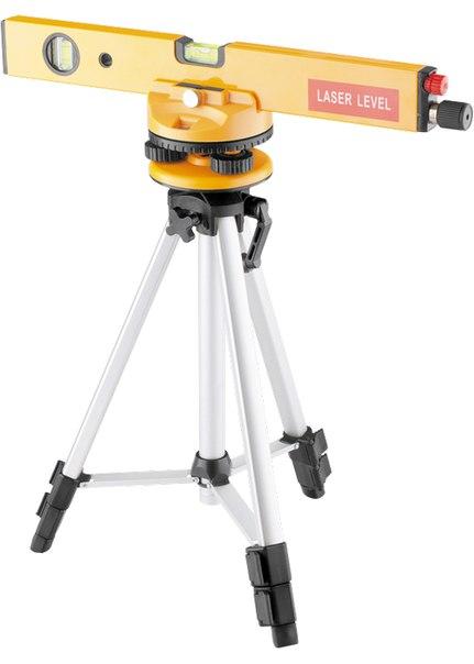 Уровень лазерный, 400 мм, 1050 мм штатив 3 глазка, набор (база, 2.линзы) в пласт. боксе   MATRIX