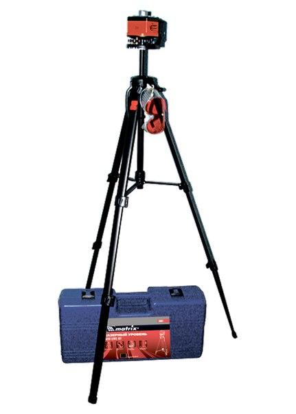 Уровень лазерный, 100 мм, штатив 1300 мм, крутящ. голова ротац., набор в пласт.кейсе   MATRIX