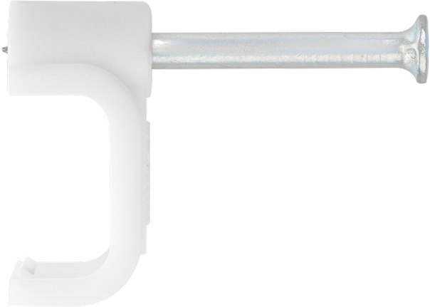 Скобы электроустановочные, прямоугольный профиль   ШУРУПЬ