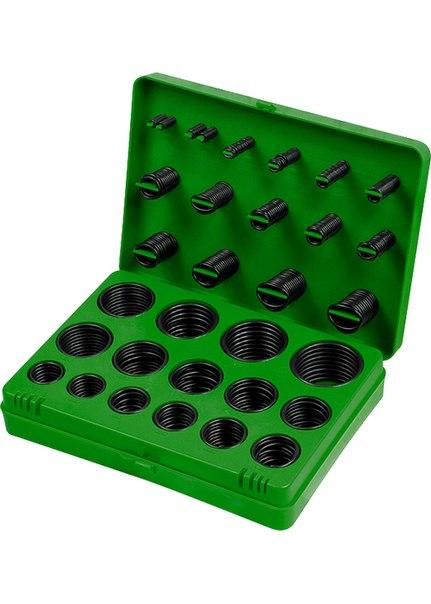 Набор резиновых уплотнительных прокладок, D 7 - 53 мм, 404 предм.   ШУРУПЬ