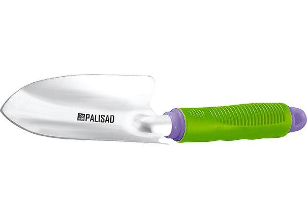 Совок посадочный узкий, обрез. рукоятка, может использ. с удлин. ручкой 63016, 63017   PALISAD