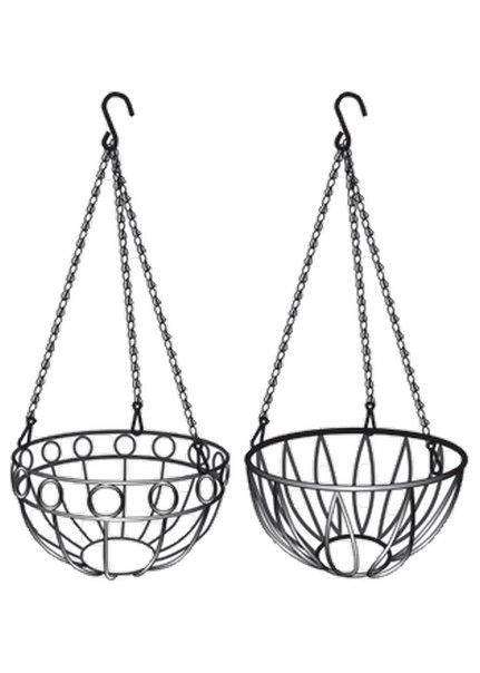 Подвесное кашпо, диаметр 25,4 см, высота с цепью и крюком 53,5 см   PALISAD