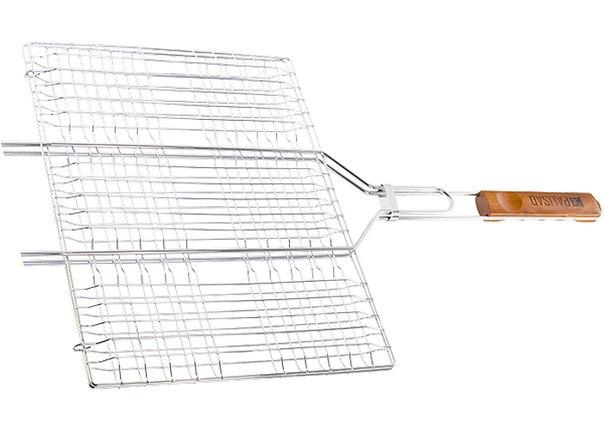 Решетка гриль 300х400мм хромир.   PALISAD