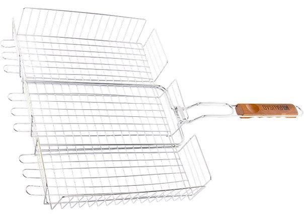 Решетка гриль 315х410*65мм объемная хромир.   PALISAD