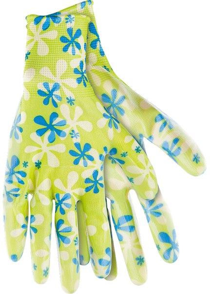 Перчатки садовые из полиэстера с нитриловым обливом   PALISAD